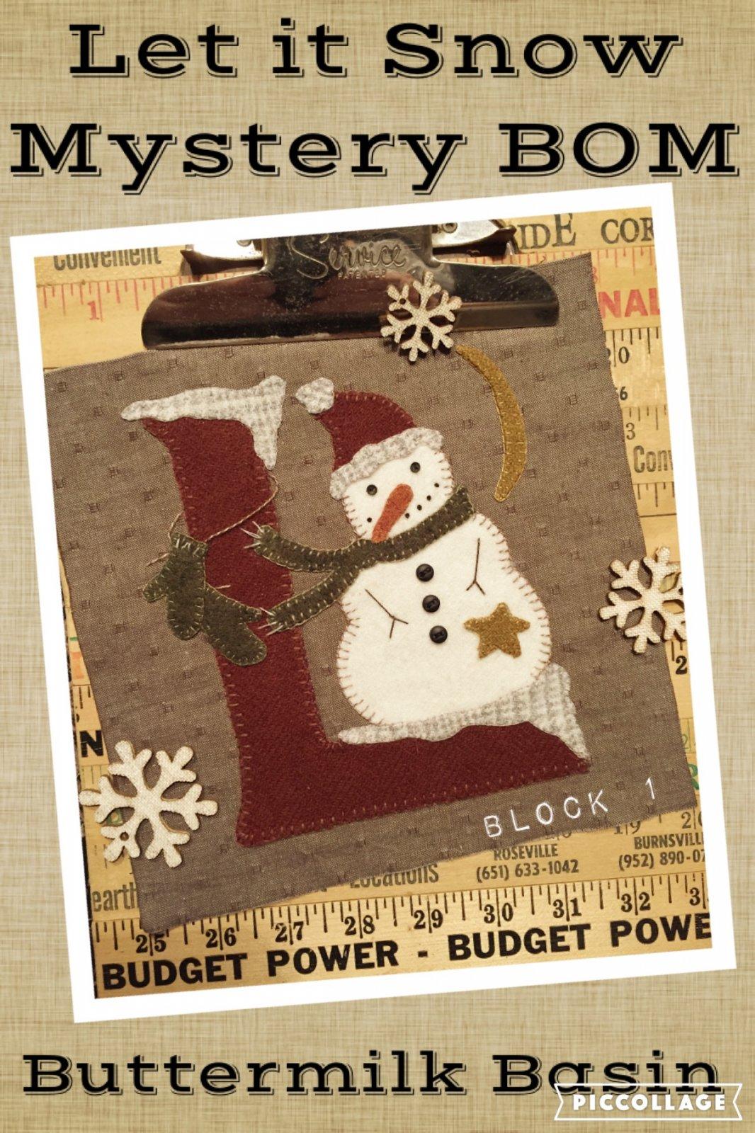 Let it Snow Mystery Block 1 (L) * Pattern & Kit