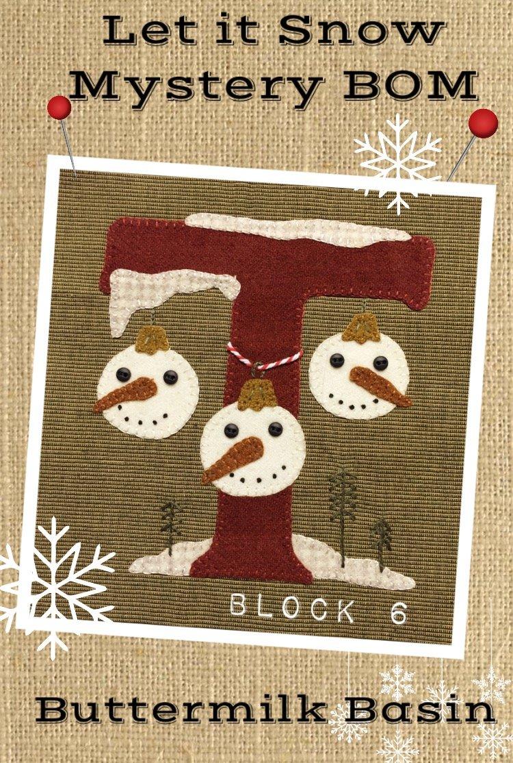 Let it Snow Mystery BOM Block 6 (T) * KIT & Pattern