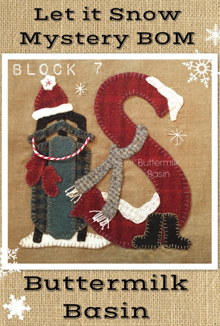Let it Snow Mystery BOM Block 7 (S) Kit & Pattern