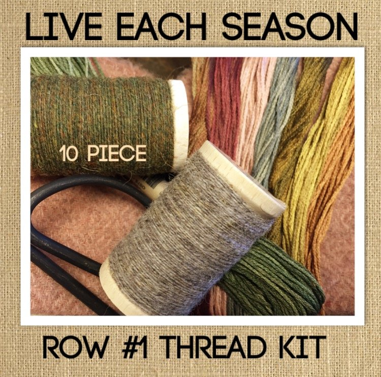 10 Piece Wool & Cotton Hand Over Dyed Thread Kit for LIVE EACH SEASON Row #1