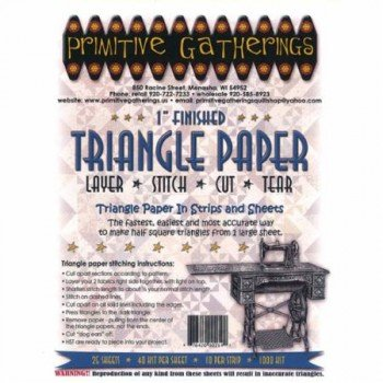 1 Inch Triangle Paper Pack