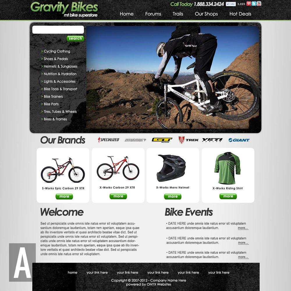 bike shop website templates. Black Bedroom Furniture Sets. Home Design Ideas