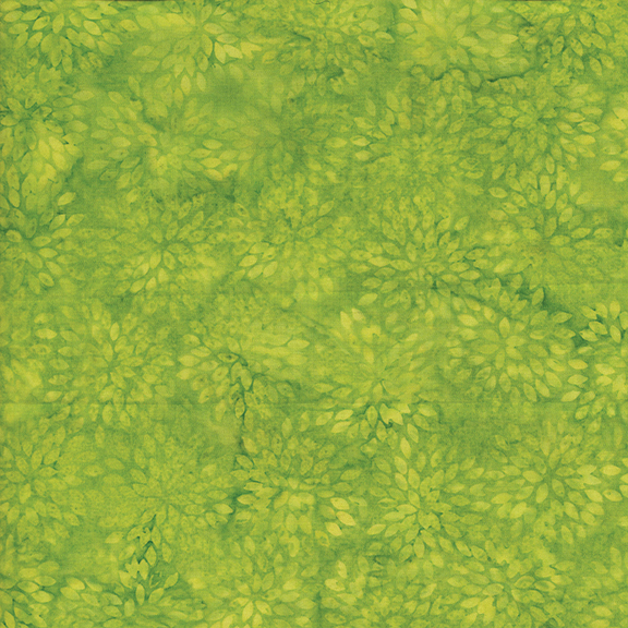 Dotalicious Lime Small Pointed Floral Batik