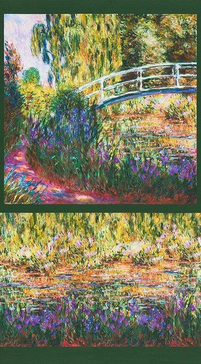 Claude Monet Garden Panel
