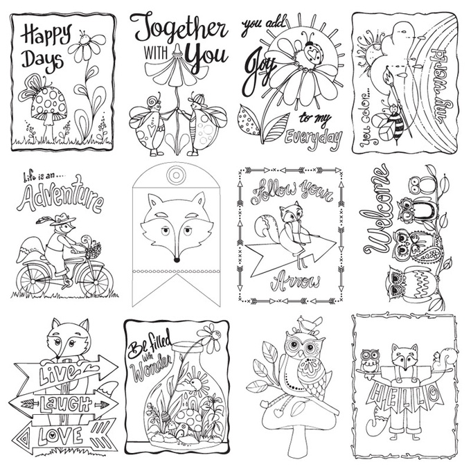 Adventure Paintable Coloring Sheets