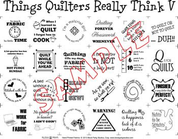 Things Quilters Really Think 5 Panel (natural)