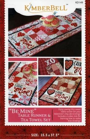 Be Mine Table Runner & Tea Towel Set Pattern