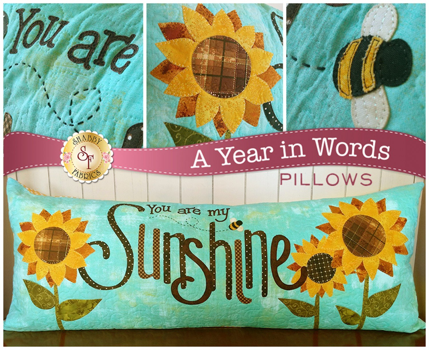 A Year In Words Pillow Pattern, August Sunshine
