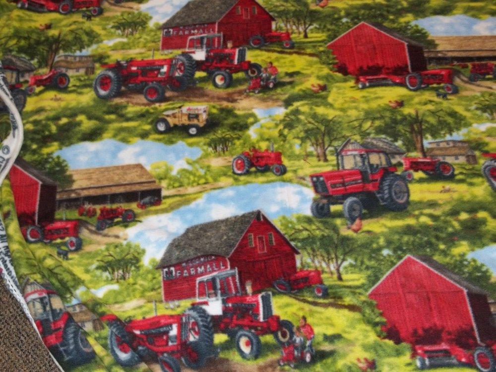 Case International Tractor Fabric : Case ih tractor fleece