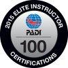 2015 Elite PADI Instructor 100 Certifications