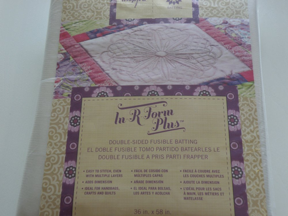 Inspira In-R-Form Plus Double-Side Fusible Batting 36 x 58 in ...