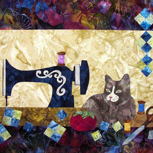 Sewing Cat Applique Quilt Pattern 859723000000