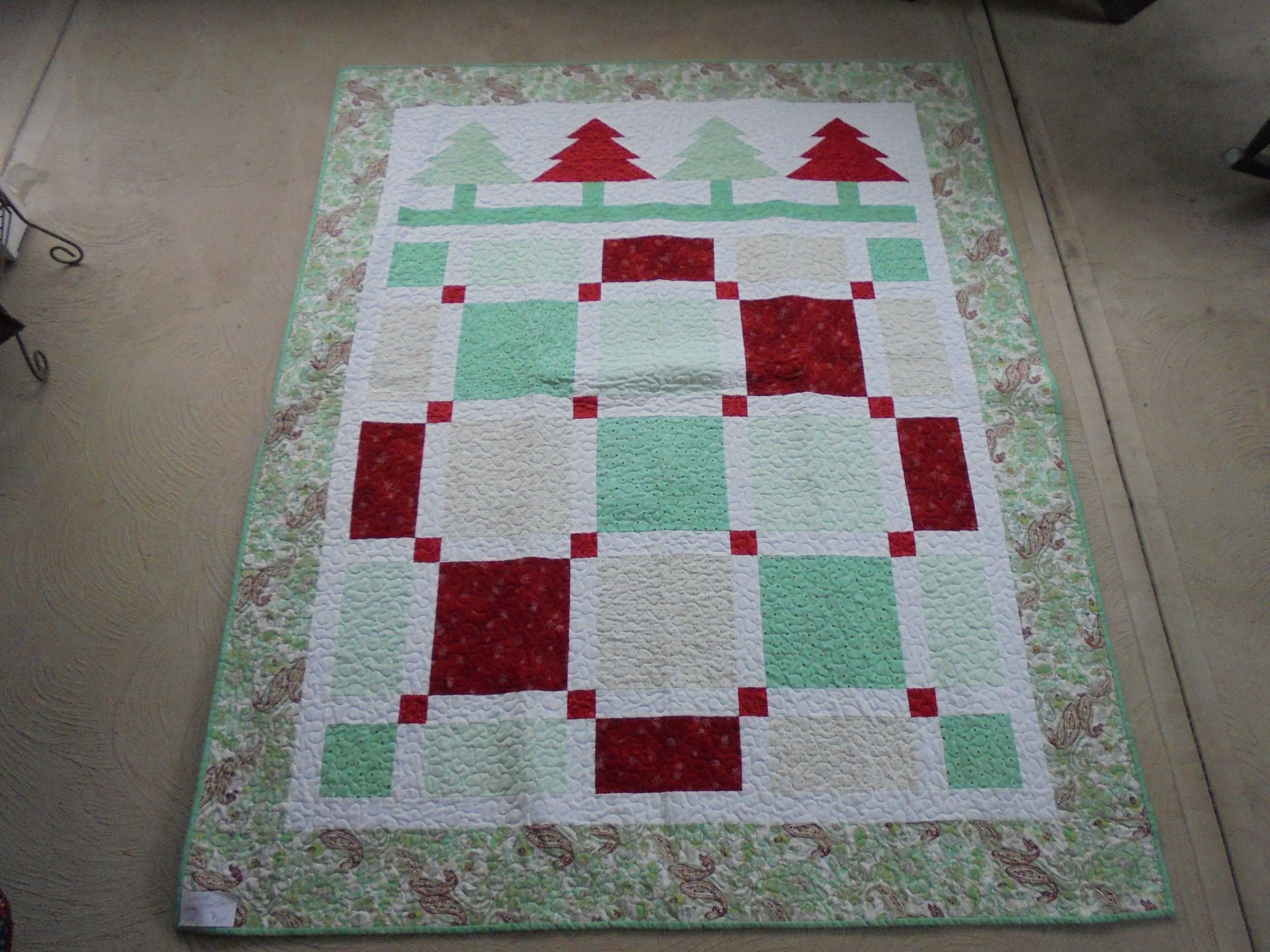 Modern Tree Throw Quilt