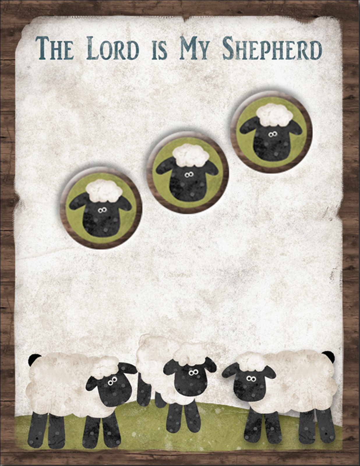 The Lord is My Shepherd Notepads and Magnets