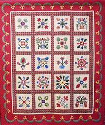 Miniature Heirloom Applique Quilt 55 X 66