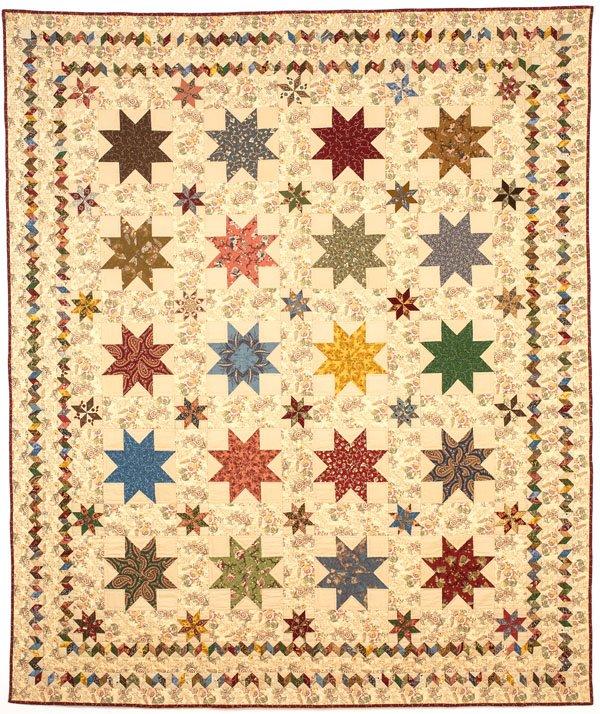 Sturbridge Stars Quilt 78 X 92