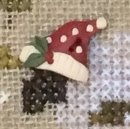 Santa Hat button