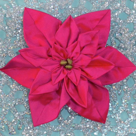 Pointsettia Brooches- LT