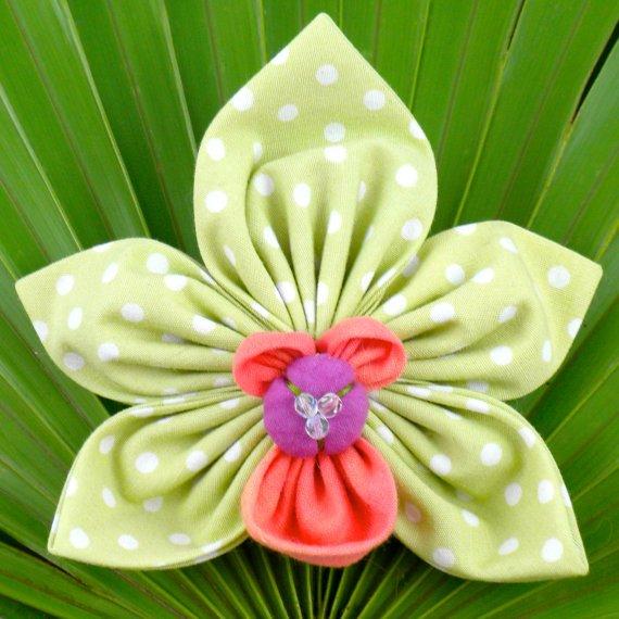 Cymbidium Orchid  Brooch - LT