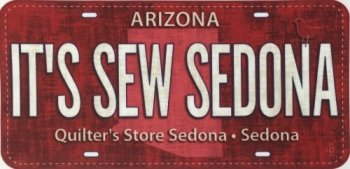 Quilter's Store Sedona 2016 Row by Row FabricPlate