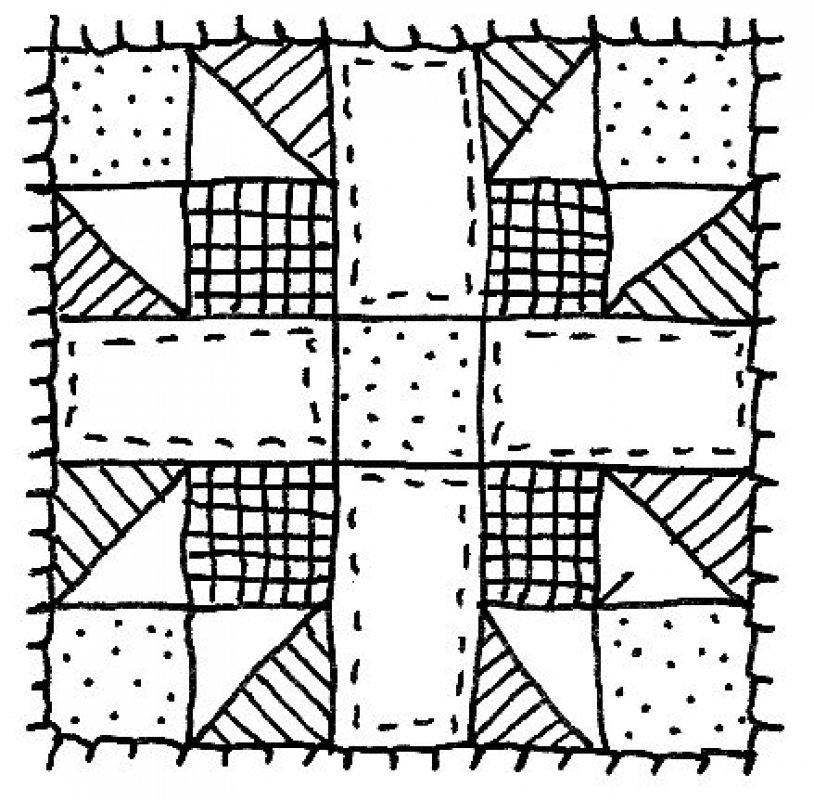 Quilt Clipart Black And White Black and White Quilt Clip ArtQuilt Block Clipart