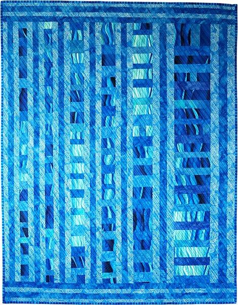 Primarily Blue by Linda Reinert, Northwest Quilting Expo, Portland Oregon