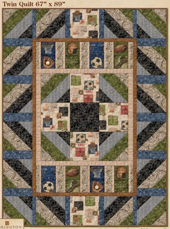 Vintage Varsity Quilt Kit From Wilmington 120150000112