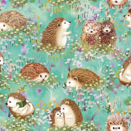 120-13741 Turquoise Hedgehogs