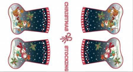 120-14061 stocking panel snow family