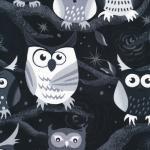 120-7052  grey lg owls