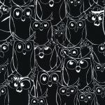 120-7083 black/white owl outline