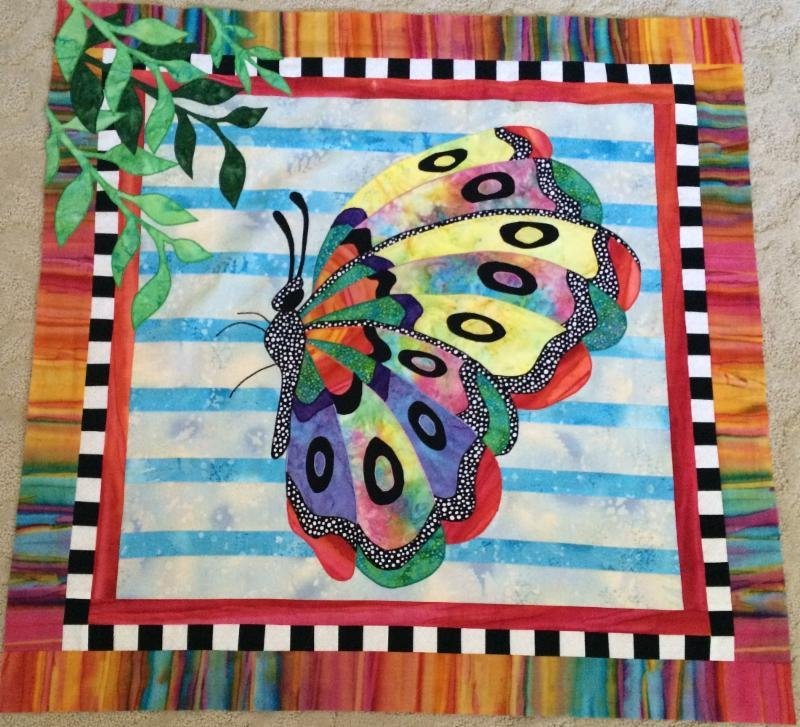 BJ Designs Beatrice Butterfly Fabric kit