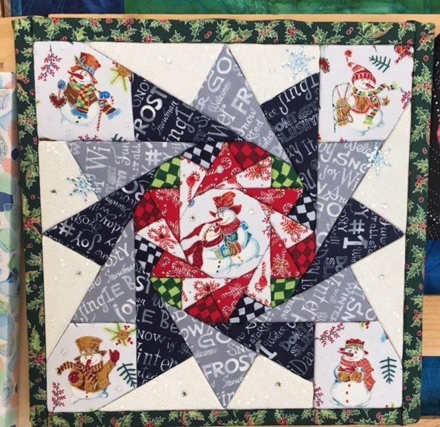 Snow Family Christmas Art Board