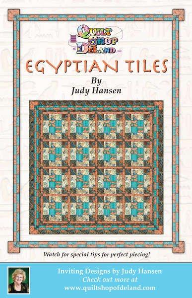 Egyptian Tiles Pattern by Judy Hansen