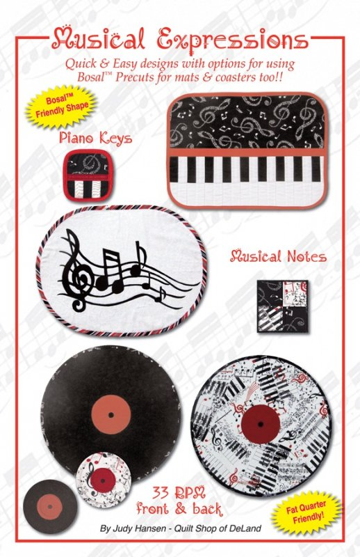 Musical Expressions Placemat Patterns
