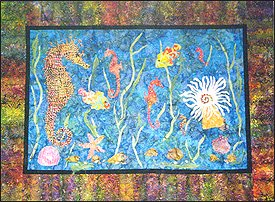 Seahorse Playground - Wall Quilts (34x47 & 48x33) Kit