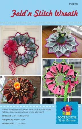 fold and stich wreath pattern and 6x6 foam