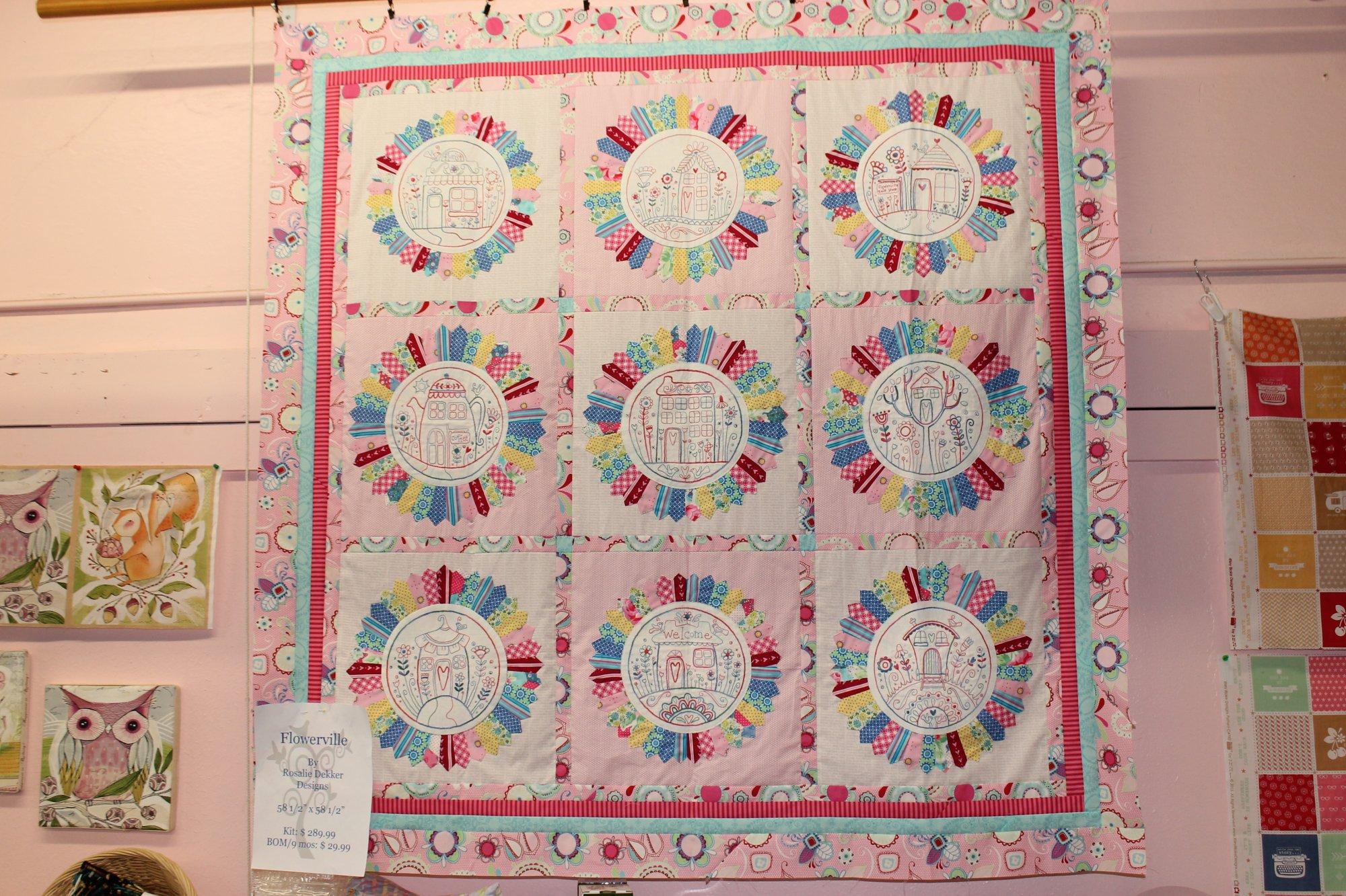 Flowerville quilt kit - Quilt rits ...