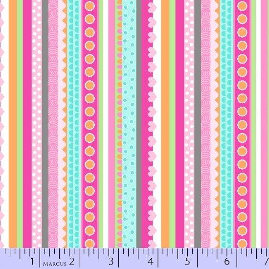 Chevrons dots stripes for Girly dinosaur fabric