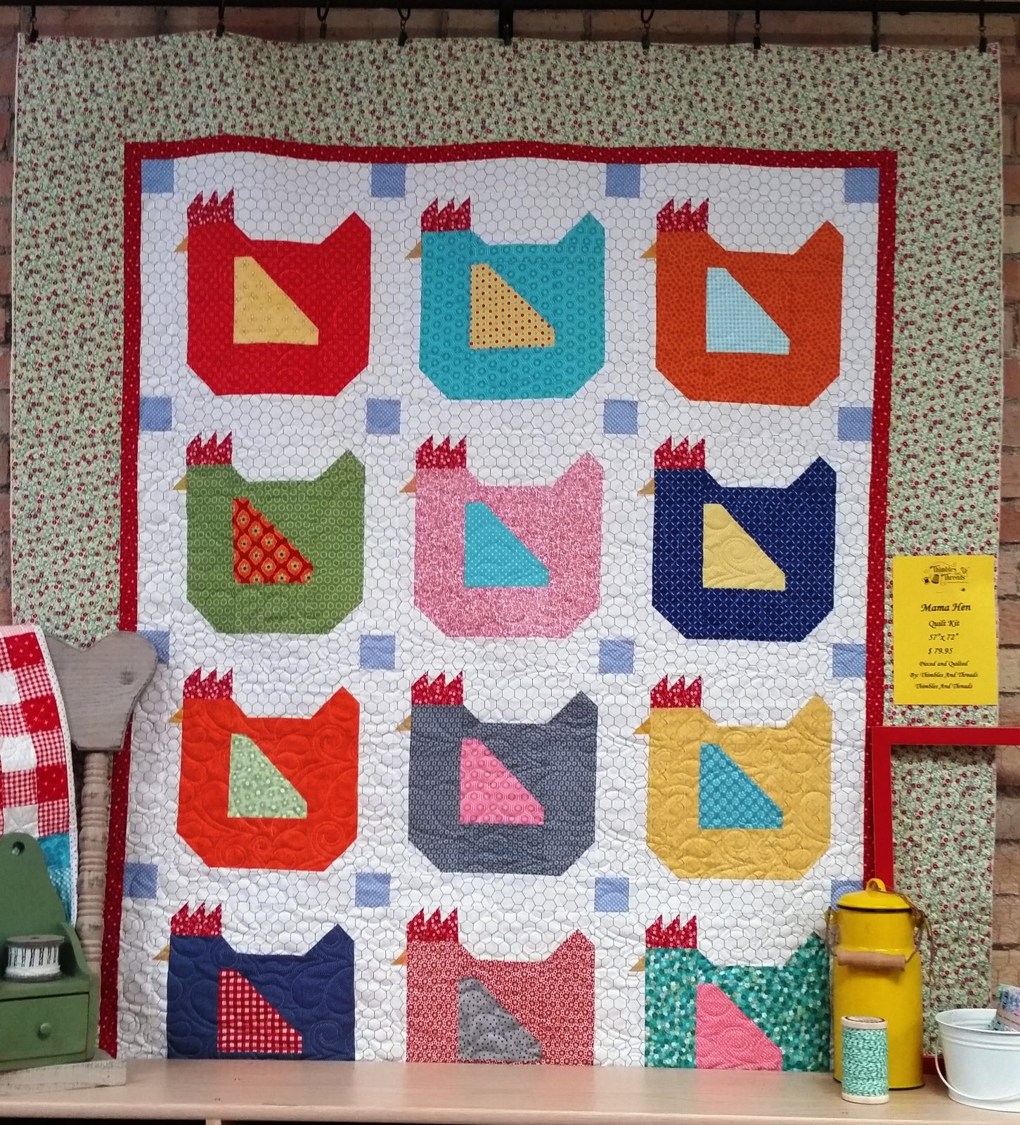 Lori holt 39 s fgv mama hen quilt kit - Quilt rits ...