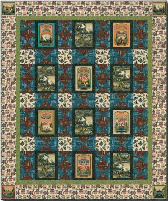 Outdoor Adventures Quilt Kit - 57 X 68