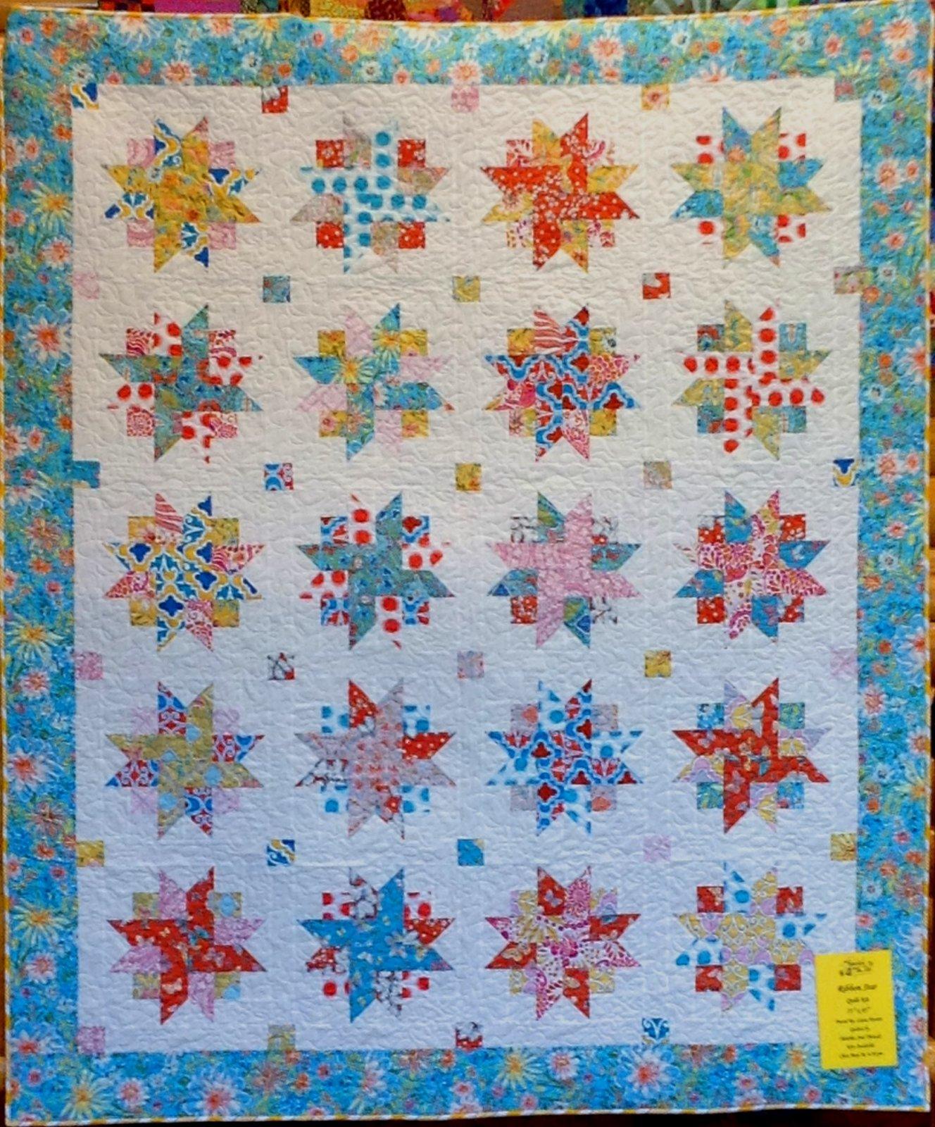 Ribbon Star Quilt Kit 75 X 85