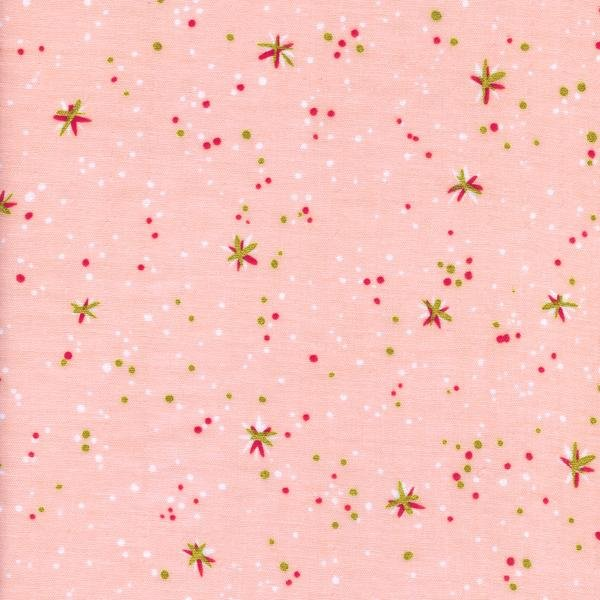 Space thistles double gauze pink for Space mountain fabric