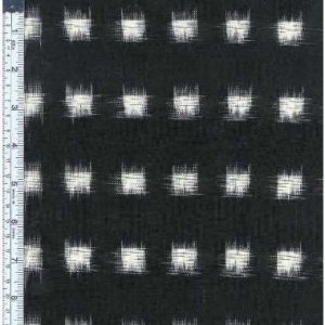 Dakota Square Ikat - Cream on Black
