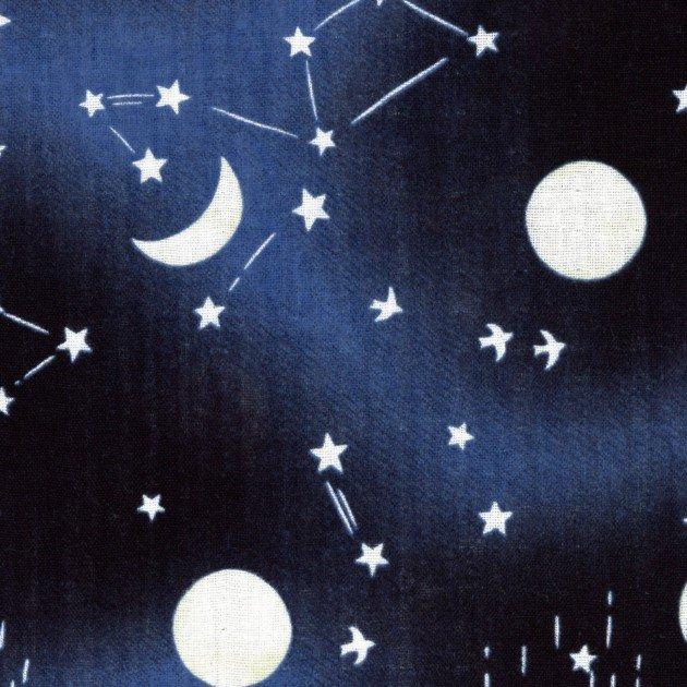 Kokka - Double Gauze - Night Sky - Navy