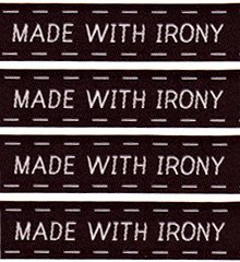 Made with Irony Sew-In Labels