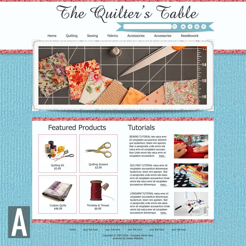 Quilting & Sewing Website Templates