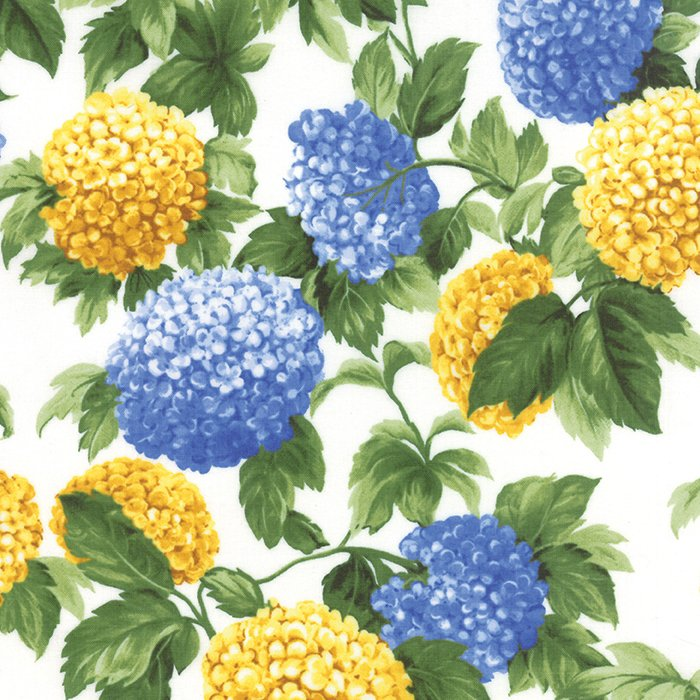 Summer Breeze III by Sentimental Studios - Floral Hydrangeas - Natural  - Moda 32940 11