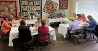 Our top sales customers being pampered at Patchwork Quilts.