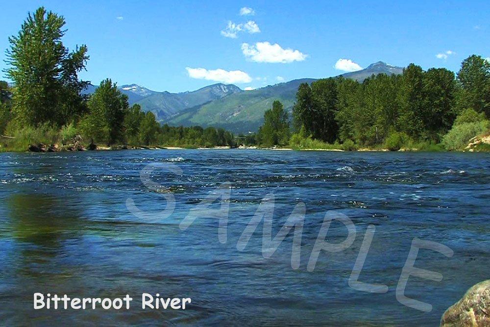 Bitterroot River Fabric Block